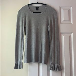 Ann Taylor gray knit sweater, size L